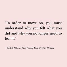 in order to move on