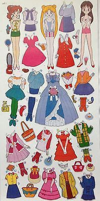 Lot of Uncut Paper Dolls 6 Sheet Mixed Japan Styles Cute Period Collectible New | eBay