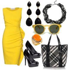 <3 Emilio Pucci gathered ruffle dress {i wish i could wear yellow!}