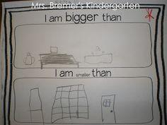 Math measurement activities for Kindergarten where students are comparing length. Measurement Kindergarten, Measurement Activities, Math Measurement, Kindergarten Math Activities, Preschool Math, Math Classroom, Teaching Math, Kindergarten Freebies, Math Games