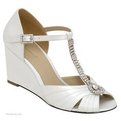 wedding wedges (much more comfortable!)