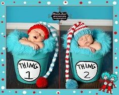 Dr. Seuss Thing 1 & Thing 2 by jeanine