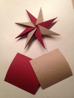 Stjerne af papir og karton.