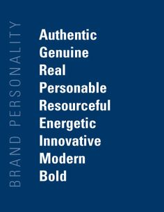 """(Chapter 8) - These are a few adjectives a person might describe a brand's """"personality"""" with. According to our book, brand personality is """"the set of traits people attribute to a product as if it were a person."""" Every brand expresses its own specific personality, which helps position itself among others in the market."""