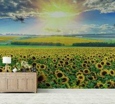 Tapet Sun Flower 180gr/mp Vineyard, Golf Courses, Sun, Lifestyle, Wallpaper, Flowers, Outdoor, Home Decor, Outdoors