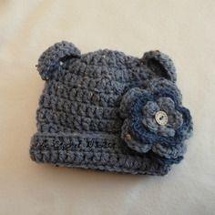 Bonnet ourson bebe  au crochet