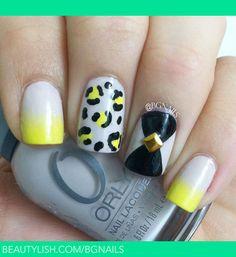Ombre, cheetah & studs. | Bere G.s (Bgnails) Photo | Beautylish