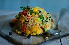 [I love pairing peaches in this salad made with quinoa!] Peach Quinoa Salad from @Sandy Coughlin | Reluctant Entertainer