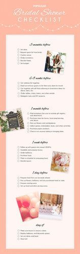 This printable checklist is all you'll need for your bridal shower.