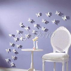 Superb D Schmetterling Set Wandtattoo Wanddeko Wanddekoration Wandtattoos Wand Deko