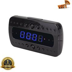 USepro WiFi Motion Detected Recorder Wireless Battery Operated HD Spy Clock Surveillance Camera Night Vision with Remote ViewFree 8G Micro SD Card * Be sure to check out this awesome product.