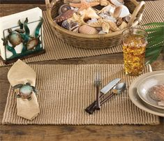 The Jute Boucle placemats are heavyweight, sturdy placemats suitable for everyday or special occasion use. The natural color and texture will allow you to accessorize your table in a multitude of styles and colors. Measurements: Placemats: 14 x 20