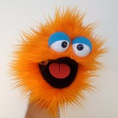 Items similar to Handy Monster - Orange Popsicle on Etsy Baby Puppet, Frog Puppet, Sock Puppets, Hand Puppets, Puppet Making, Kermit The Frog, Little Monsters, Pretty Cats, Educational Crafts