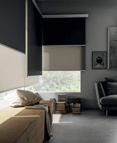 Roll Up Curtains, Home Curtains, Curtains With Blinds, Blinds For Windows, Blinds For Bedroom, Cortinas Rollers, Double Roller Blinds, Roller Blinds Design, Night Blinds