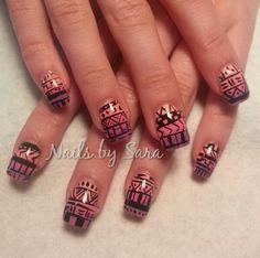 Acrylic nails by Sara