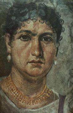 Fayum mummy portrait, Roman era, Hawara, Egypt