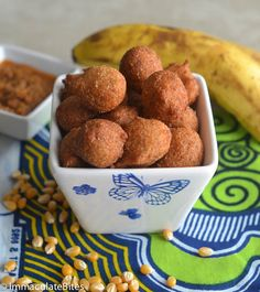 Accra Bananaare deep- fried puffs which are made out of banana and some sort of flour, cornmeal, cassava , garri.. the possibilities are endless .Many African cultures share a love of Accra banana/Corn fritters in one disguise or another.Since bananas flourish in thetropics thereis an abundance of bananas and nothing hardly goes to waste.  …