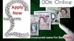 Unsecured personal loans allow you to solve your monetary crisis by providing you cash advances. It is specifically designed for borrowers suffering from bad credit. According to your financial needs, it is convenient for you to avail loans whenever you want fast cash. All you just require to unlimited an easy online form and within 24 hours you'll obtain accepted for the required sum. People can enjoy the benefits of this scheme without any hassle.