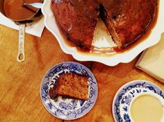 Impress your Valentine with this very unique Date Cake with homemade Caramel Sauce!