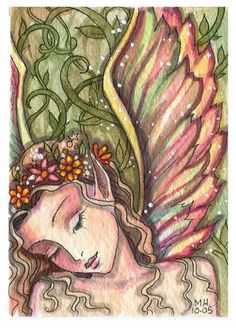 Fairy Art: aceo always dreaming by Artist Molly Harrison Fairy Pictures, Unicorns And Mermaids, Butterfly Fairy, Reborn, Gnome, Artwork Images, Fairytale Art, Artist Portfolio, Mermaid Art