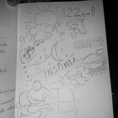 Insônia de leve, rabiscos na madrugada... #insonia #night #noite #sketch #handdrawn #rabisco #drawing #draw