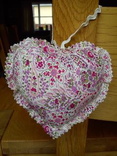 pretty ditsy paisley fabric heart