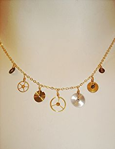 Vintage watch parts with 14K gold fill necklace $65 by #AgapanthaJewelry @Dani Paquin