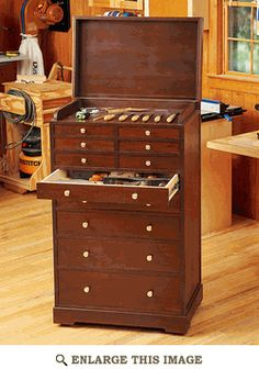 Heirloom Rolling Tool Cabinet Woodworking Plan