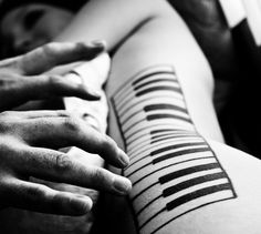 piano tattoo: MY FAVORITE EVER! Plan to get this in the future!!