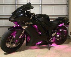 My Ninja 600 with pink LEDs I added myself! :)