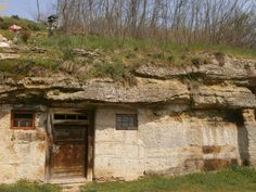 Rock dwellings in Brhlovce