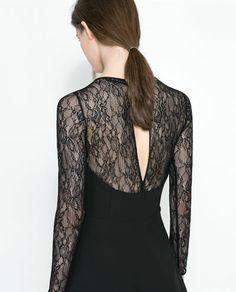 ZARA - WOMAN - COMBINED LACE DRESS