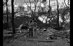 """The Los Angeles Times reported on Dec. 11, 1958: The Fountain of the World Monastery in a wooded canyon near Chatsworth was ripped apart early yesterday by a heavy explosion which instantly killed the bearded leader of the cult, Krishna Venta, and seven of his followers...  """"Buddy Consol, 10, stands beside Krishna Venta's son, Lael, who points to the wreckage of the dormitory where both had been sleeping when explosion occurred."""""""