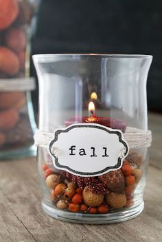 Decorated Vases for Fall with Custom Made Stamps!