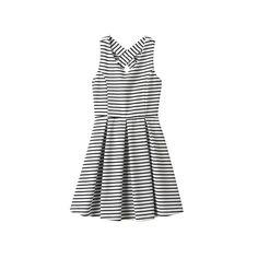 Girls 7-16 & Plus Size Lilt Striped Skater Dress, Girl's, Size: 10, White Oth