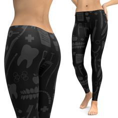 Dental Pattern Leggings Shared by Career Path Design