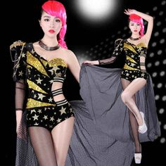 US  18.96   piece Free Shipping to Sweden 2016 Europe club bar DS costumes  Jazz dancer 0089c2122f21