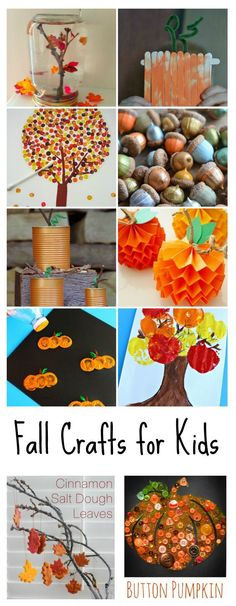 Fall Crafts for Kids | Sharing several fun and unique fall crafts and project ideas you can do with the kids.