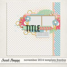 Quality DigiScrap Freebies: Template freebie from Tickled Pink Studio