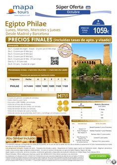 Egipto Philae Sept-Oct Madrid y Barcelona** Precio Final 969** ultimo minuto - http://zocotours.com/egipto-philae-sept-oct-madrid-y-barcelona-precio-final-969-ultimo-minuto-2/