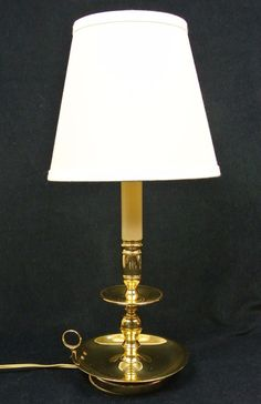 Baldwin brass james river tall candlestick table lamp shade baldwin brass chamberstick table lamp wshade candlestick 17 tall made in usa aloadofball Image collections