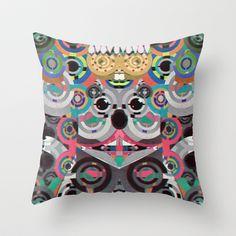 KiNG KoALA Throw Pillow by Galvanise The Dog - $20.00