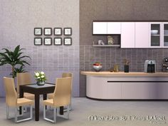 Marble & Tiles Wall by Paogae at TSR via Sims 4 Updates