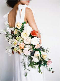 Modern and Organic Floral Bridal Inspiration with Native Poppy - Southern California Wedding Photographer — whiskers & willow photography