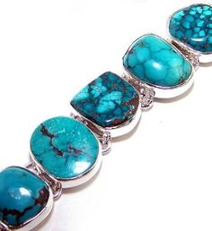 Beautiful item with Turquoise Gemstone(s) set in pure 925 sterling silver.