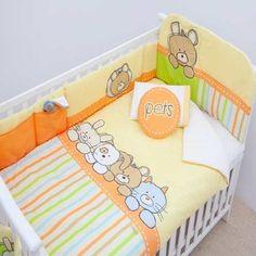 Set Completo De Edredón Para La Cuna Del Bebé De Chiquimundo Baby Crib Bedding, Baby Pillows, Baby Bedroom, Baby Boy Rooms, Baby Boy Nurseries, Baby Play, Baby Kids, Baby Sheets, Kit Bebe