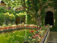 Estanque del Jardín Chico de la Casa de Pilatos de Sevilla. ( Autor: González-Alba)