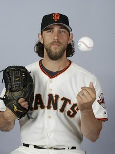 This is a 2015 photo of Madison Bumgarner of the San Francisco Giants baseball team. This image reflects the Giants active roster as of Feb. 27, 2015, when this image was taken. (AP Photo/Darron Cummings)
