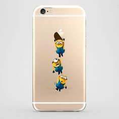 Funda iPhone 6 Minion colgados Transparente #iphone6 #fundaiphone6 #iphone6plus #accesoriosiphone6 #tutiendastore #minion