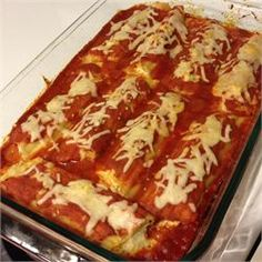 Three Cheese Manicotti - Allrecipes.com Might need to add a little something.